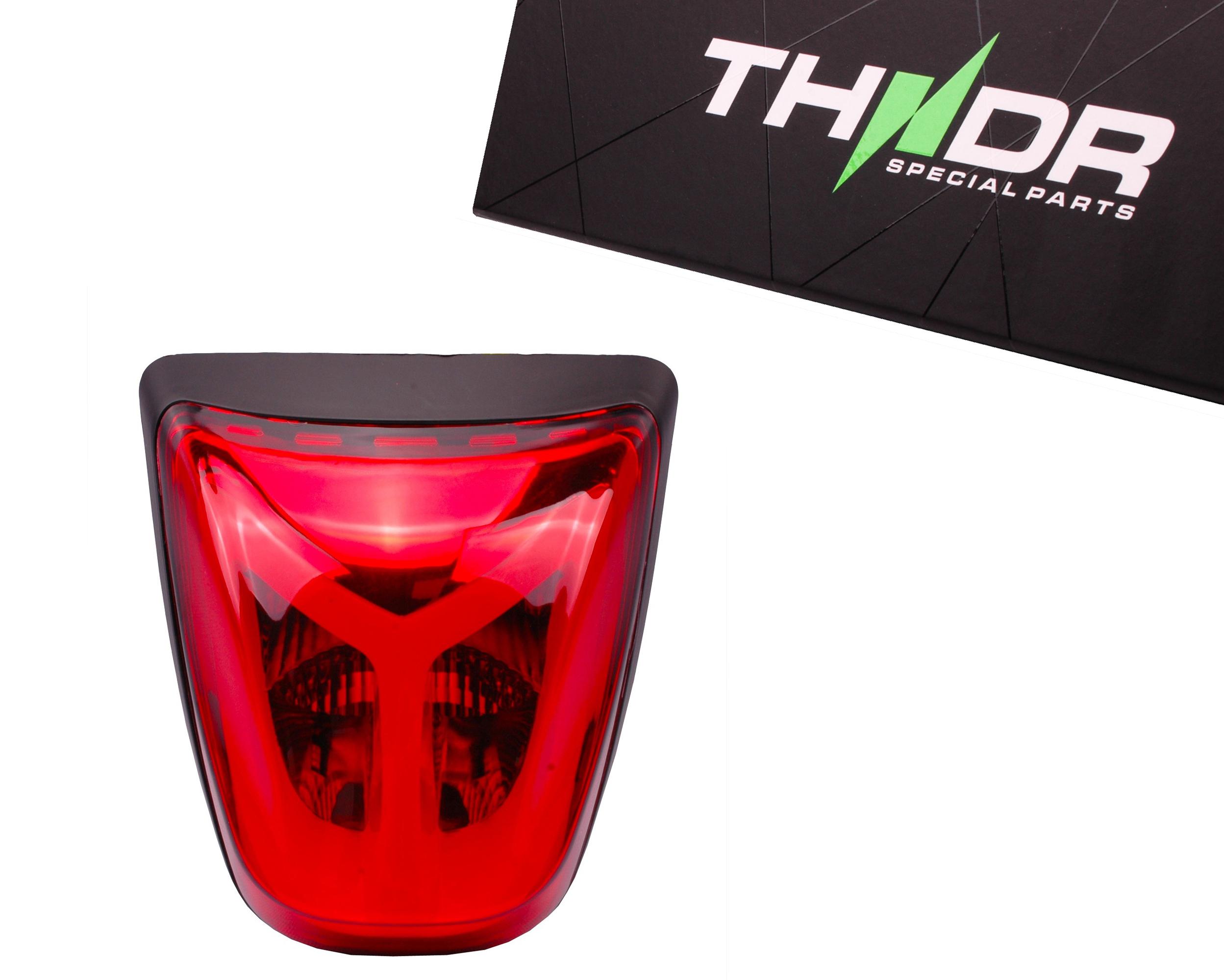 Achterlicht LED Tube THNDR Rood - Vespa Sprint