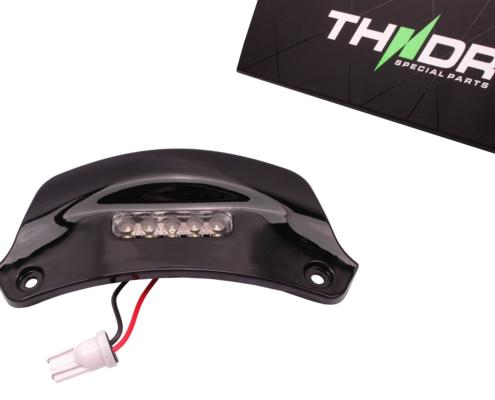 Kentekenplaatverlichting LED THNDR Glans Zwart - Vespa Sprint