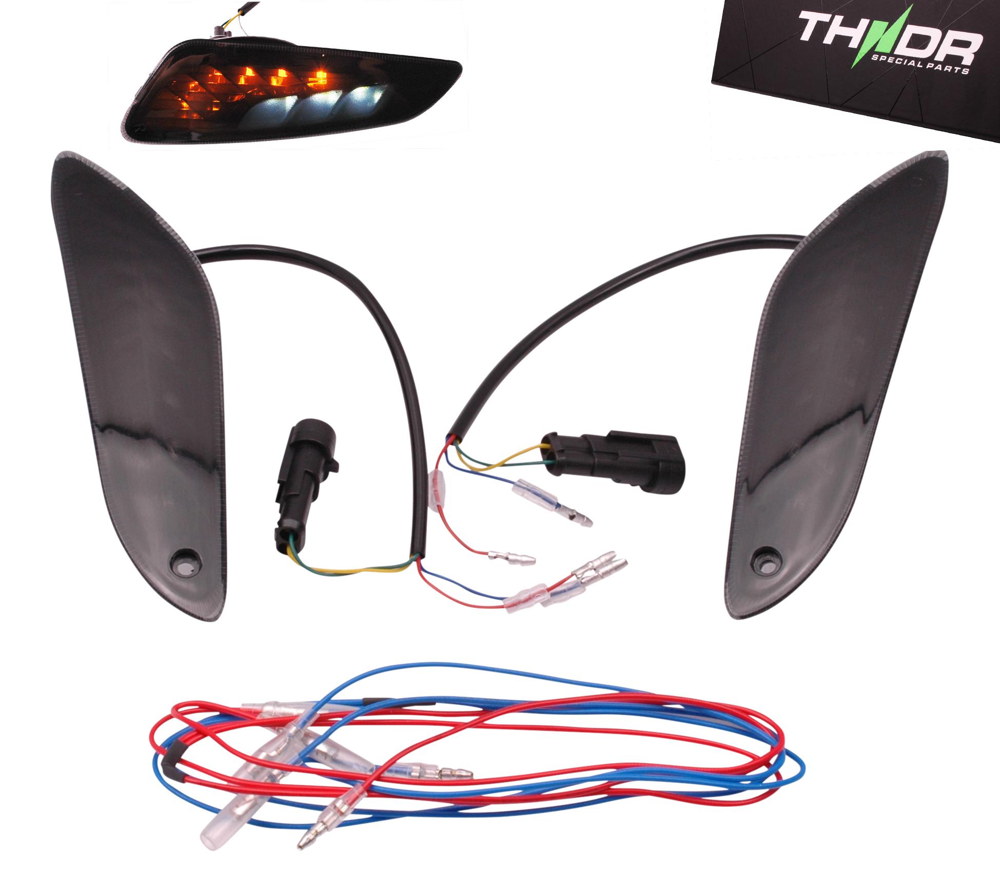 Richtingaanwijzerset Achter LED SQ + Remlicht THNDR Smoke - Vespa Sprint