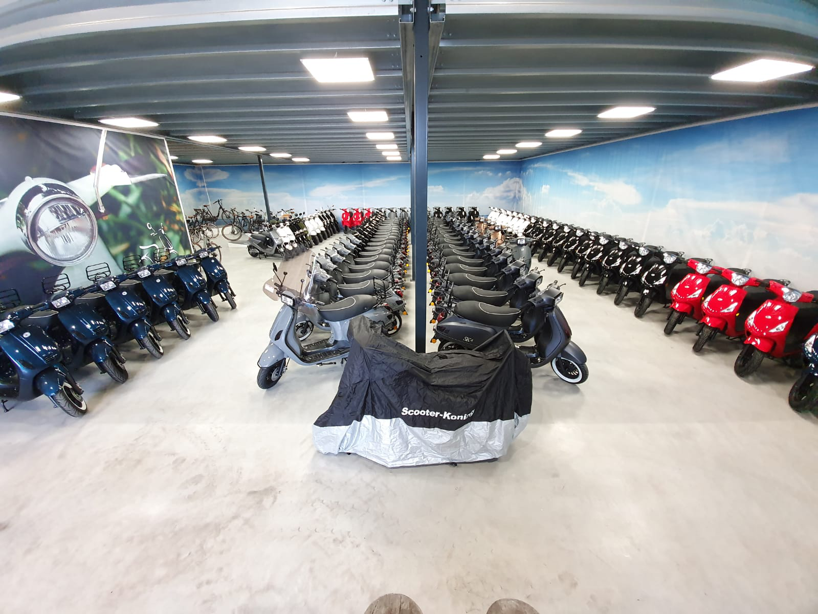 Scooter Koning showroom